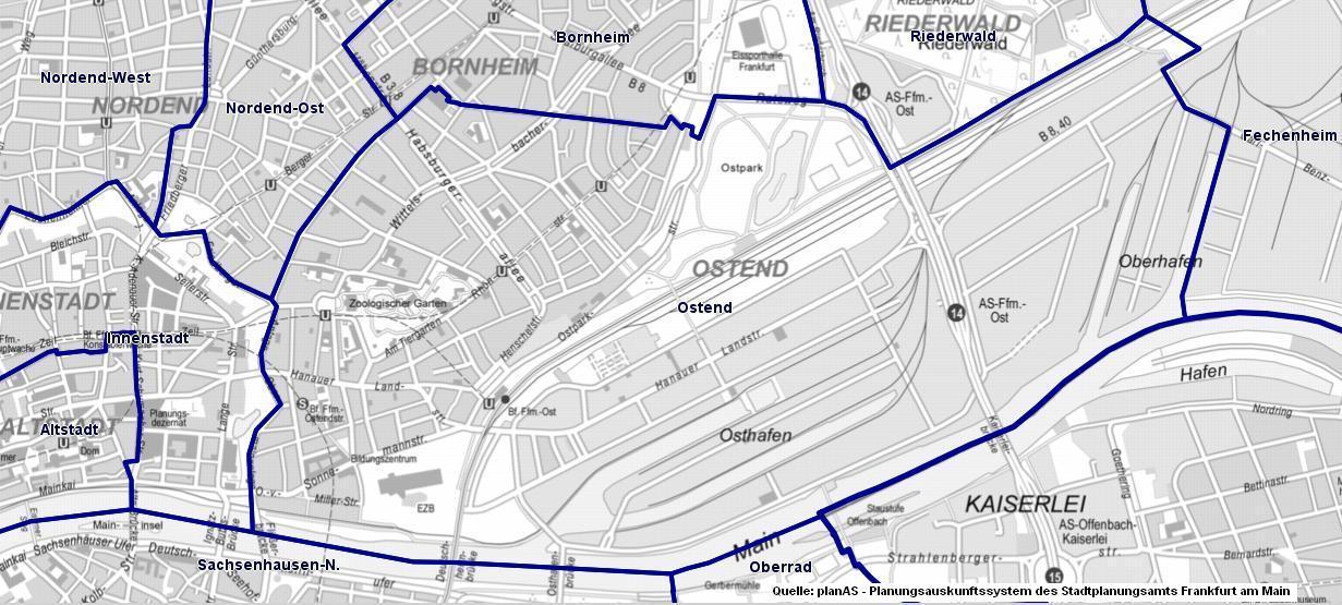 Stadtplan Ostend