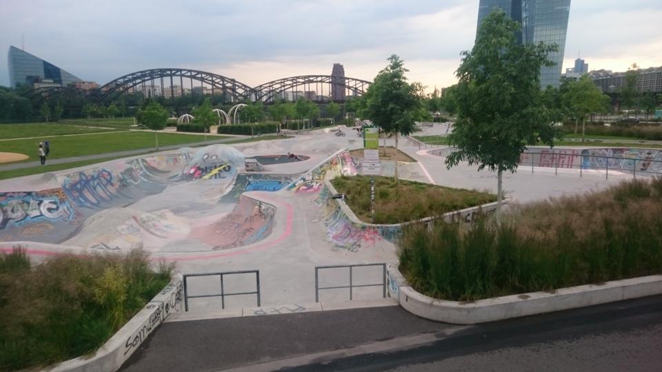 Skater-Anlage im Hafenpark