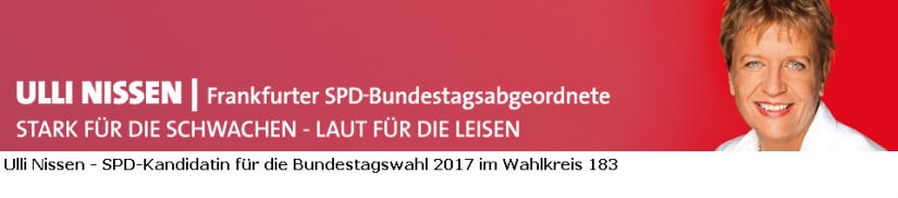 Ulli Nissen - unsere Kandidatin im Wahlkreis 183 für die Bundestagswahl 2017