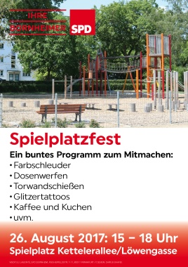Plakat Spielplatzfest