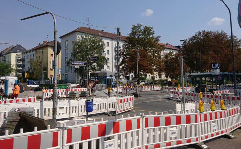 Aktuelle und anstehende Straßenarbeiten im Ostend: Habsburgerallee und Röderbergweg